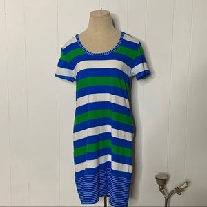 Tommy Bahama Striped T Shirt Dress Swimsuit Cover